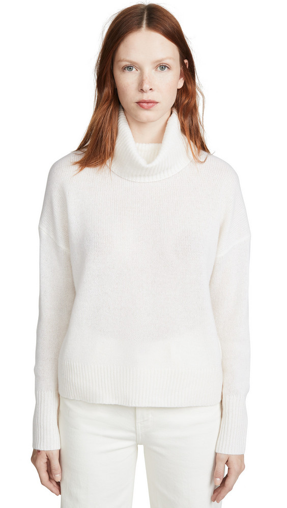 360 SWEATER Raelynn Cashmere Sweater in white