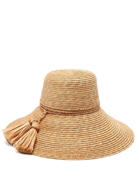 Lola Hats - Re-rope Wide-brim Raffia Hat - Womens - Beige