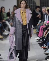 coat,purple coat