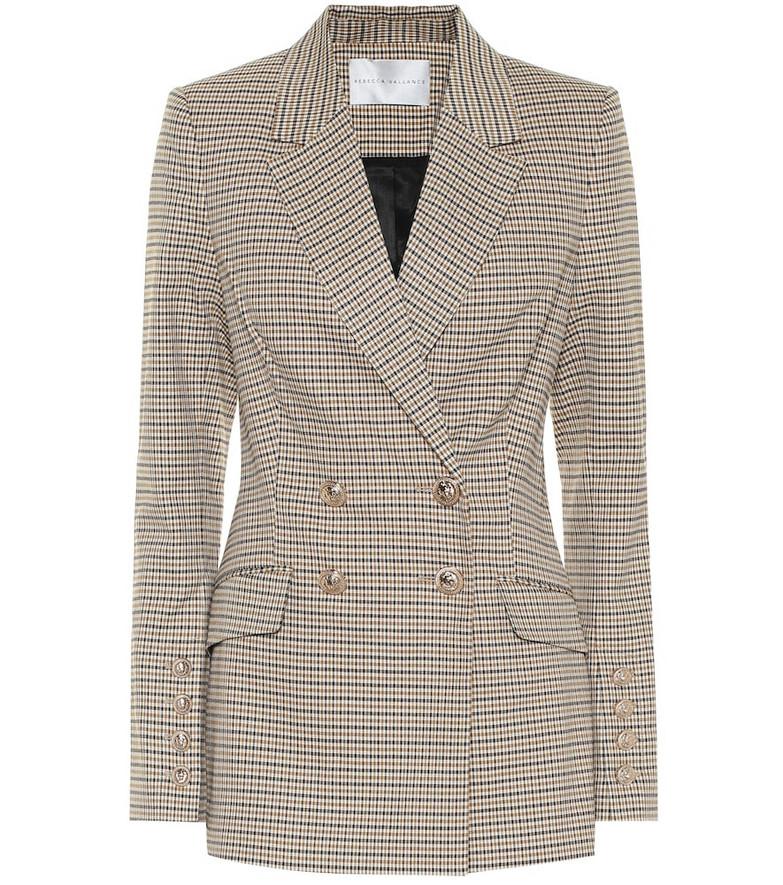 Rebecca Vallance Cocoa checked blazer in brown
