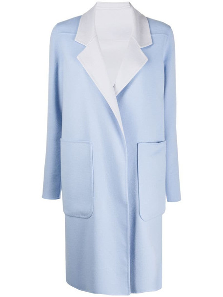 Manzoni 24 reversible single-breasted coat in blue