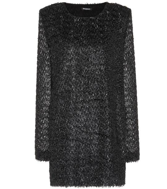 Balmain Fringed minidress in black