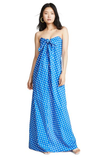 Caroline Constas Kaia Dress in blue / white