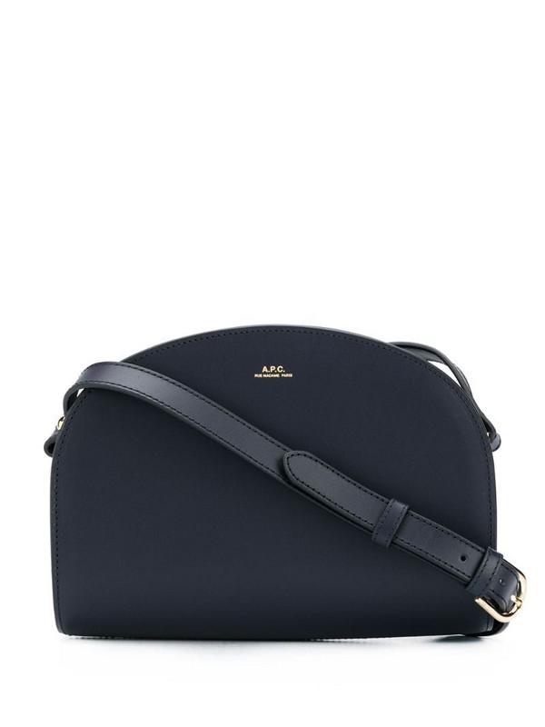 A.P.C. Demi Lune crossbody bag in blue