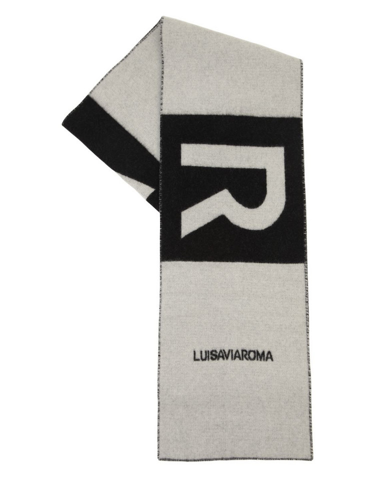 LUISAVIAROMA Lvr Logo Cashmere Scarf in black