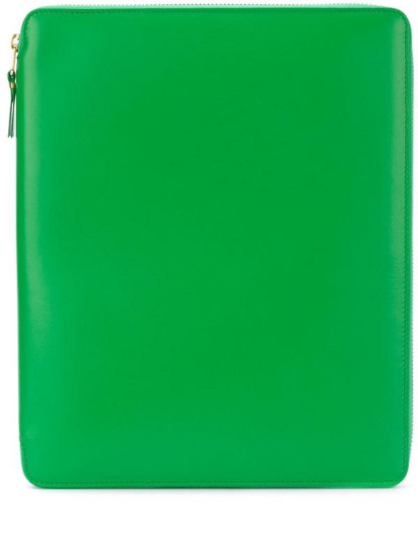 Comme Des Garçons Wallet zip around pouch in green