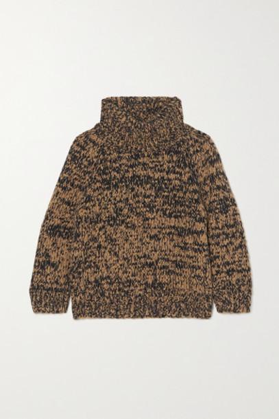 Dries Van Noten - Mimi Mélange Wool-blend Turtleneck Sweater - Mustard