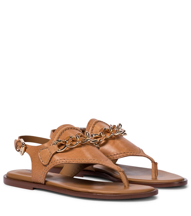 See By Chloé Mahe leather thong sandals in brown