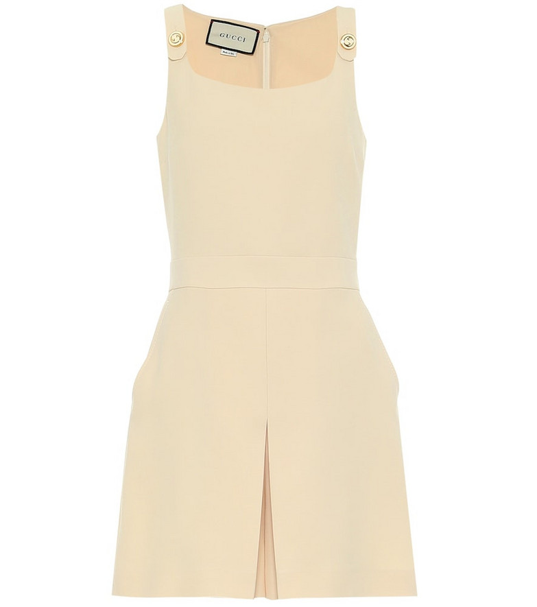 Gucci Crêpe-cady playsuit in beige