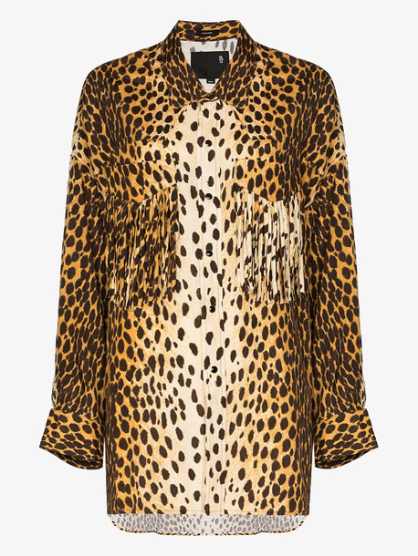 R13 Western cheetah print shirt