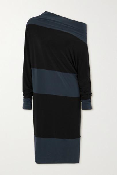 Norma Kamali - Convertible Two-tone Stretch-jersey Dress - Black