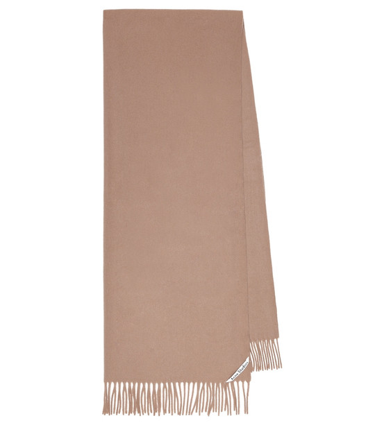 Acne Studios Canada wool scarf in brown