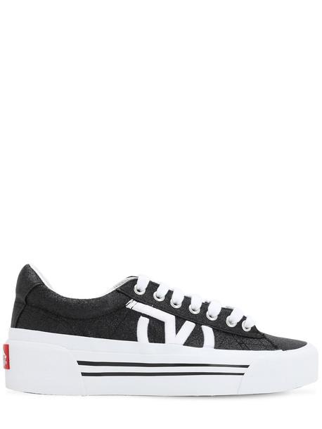 Vans Sid Ni Glitter Sneakers in black