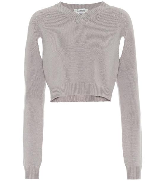 S Max Mara Pioggia cashmere sweater in grey