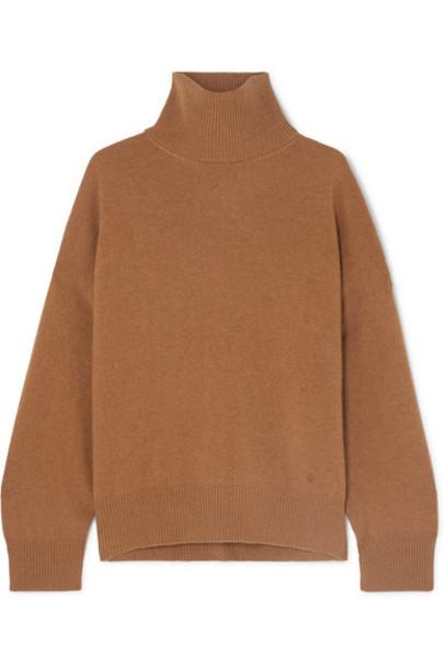 LOULOU STUDIO - Murano Cashmere Turtleneck Sweater - Camel