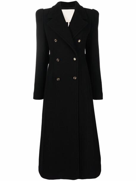 Elie Saab double-breasted maxi coat - Black