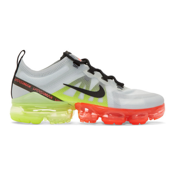 Nike Grey & Orange Air Vapormax 2019 Sneakers