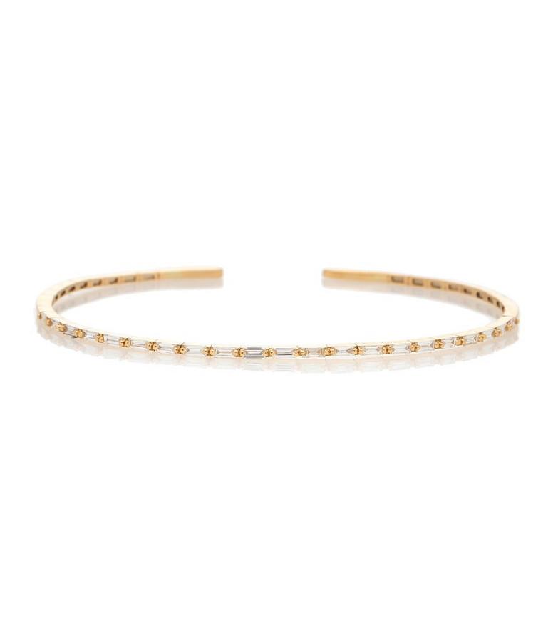 Suzanne Kalan 18kt gold cuff bracelet with diamonds
