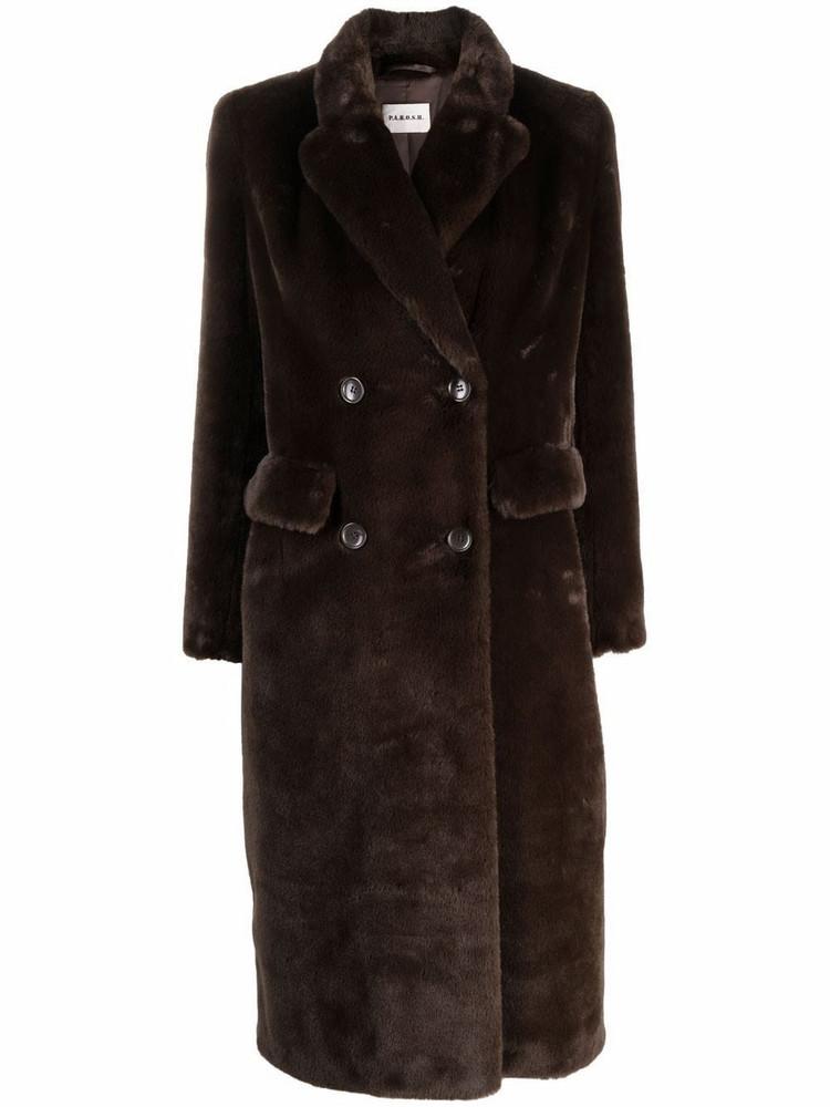 P.A.R.O.S.H. P.A.R.O.S.H. fitted double-breasted coat - Brown