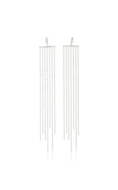 Suzanne Kalan 18K White Gold Diamond Fringe Earrings