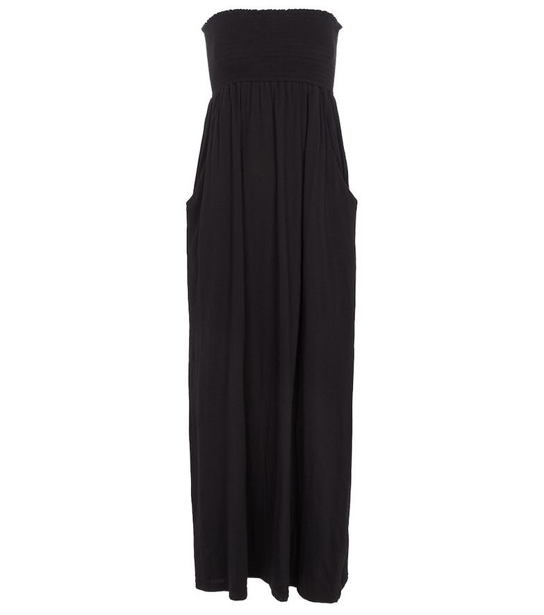 Velvet Jocelyn stretch-cotton jersey maxi dress in black