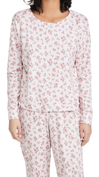 Onzie High Low Floral Sweatshirt in pink