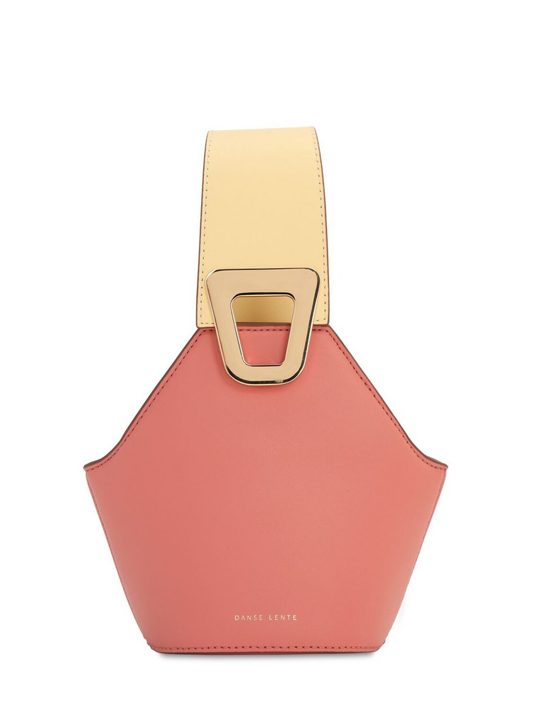 DANSE LENTE Xs Jhonny Smooth Leather Bag in peach