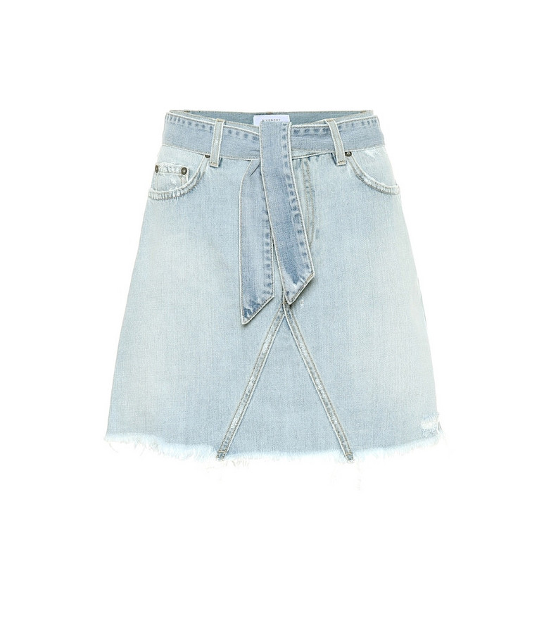 Givenchy Belted denim miniskirt in blue