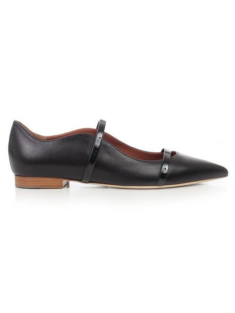 Malone Souliers Ballerinas Nappa W/patent Details in black