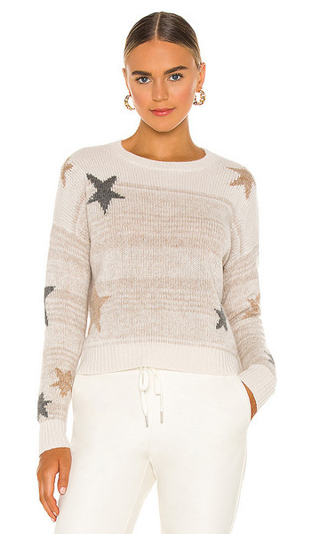 360CASHMERE Kora Cashmere Sweater in Cream in multi