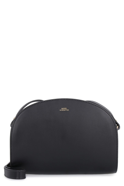 A.P.C. A.P.C. Leather Crossbody Bag in black
