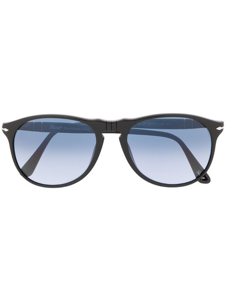 Persol round framed sunglasses in black