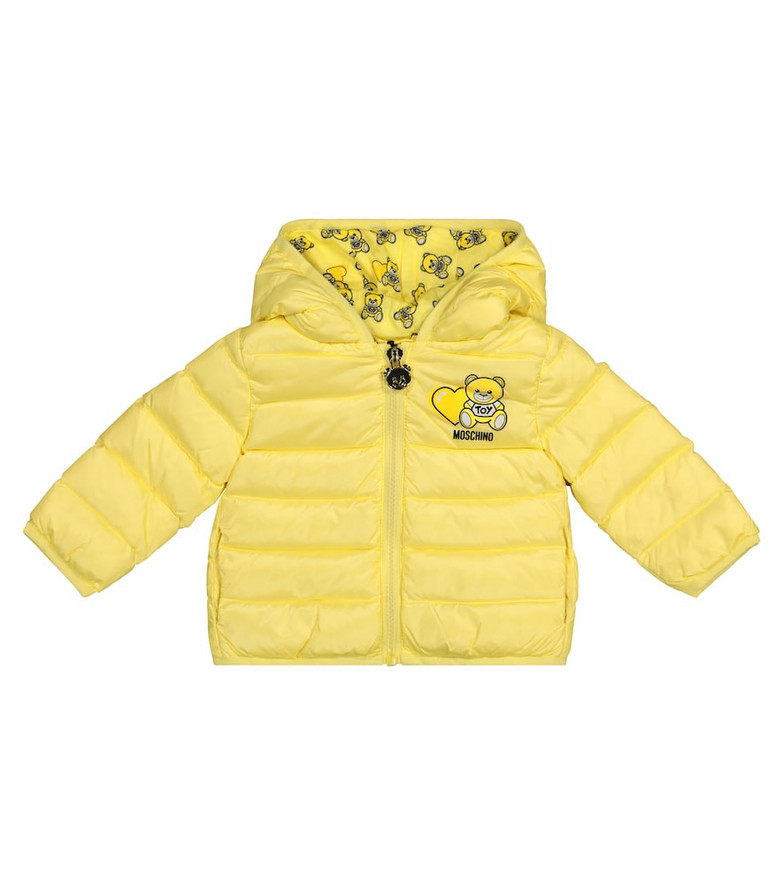 Moschino Kids Baby quilted down jacket in yellow