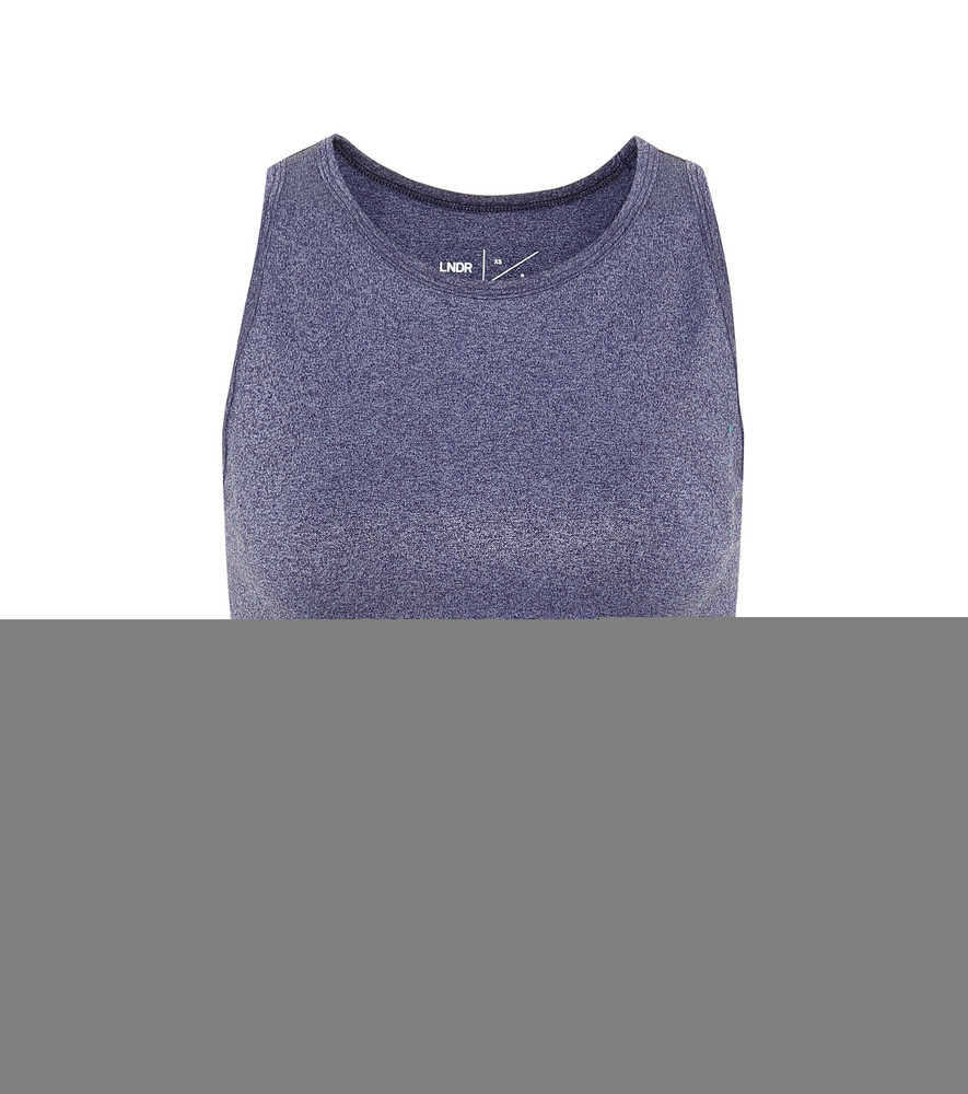 Lndr Radar sports bra in blue