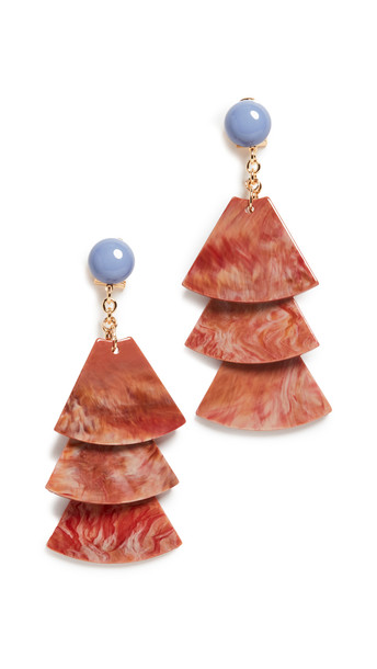 Rachel Comey Stoop Earrings in brick / multi