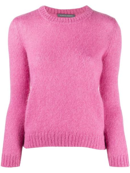 Alberta Ferretti crewneck knit jumper in pink