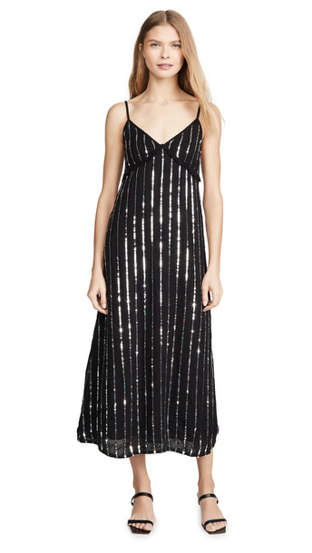 SUNDRESS Madeline Long Dress in black / silver