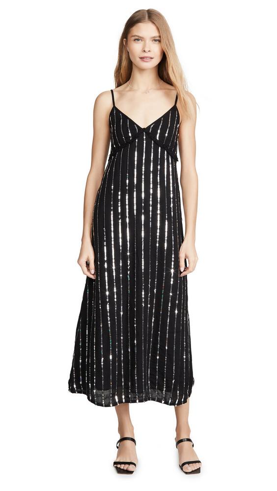 SUNDRESS Madeline Long Dress in black / silver