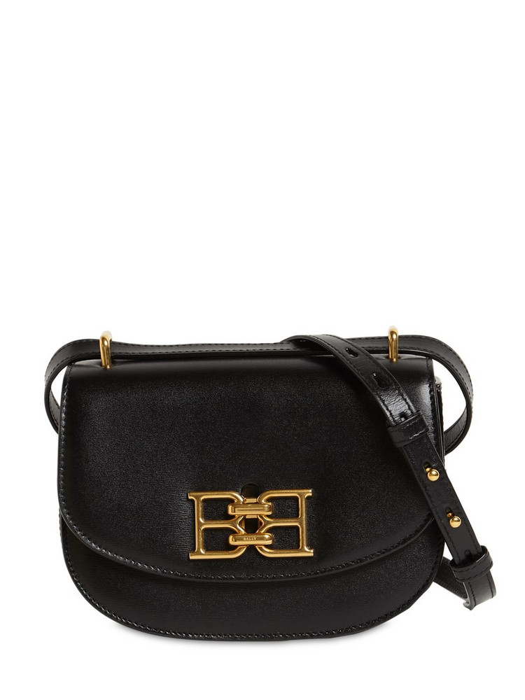 BALLY Mini Baily B-chain Leather Shoulder Bag in black