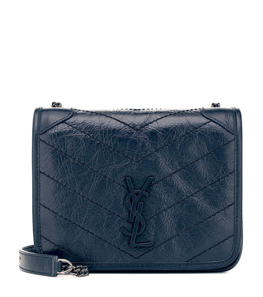 Saint Laurent Niki Mini leather crossbody bag in blue