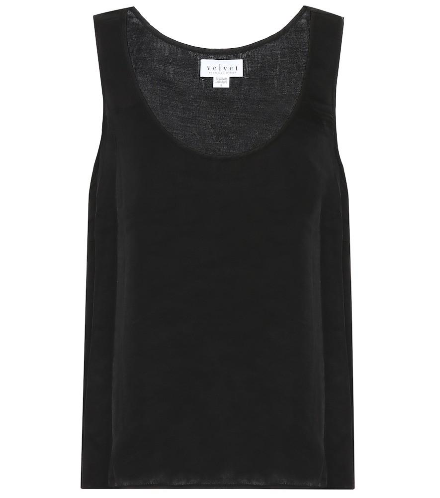 Velvet Darla tank top in black
