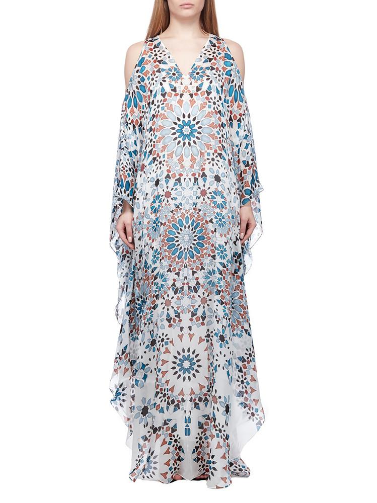 Roberto Cavalli Graphic Tunic Dress in bianco