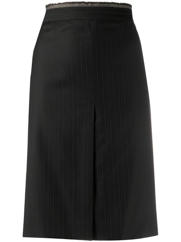 Gianfranco Ferré Pre-Owned 2000s pinstriped pencil skirt in blue