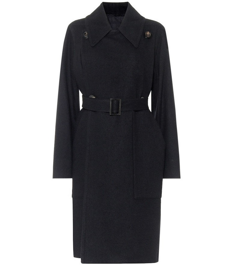 Rick Owens Drella cotton and wool trench coat in black