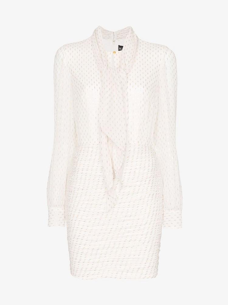 Haney Pippa long sleeve dress in white