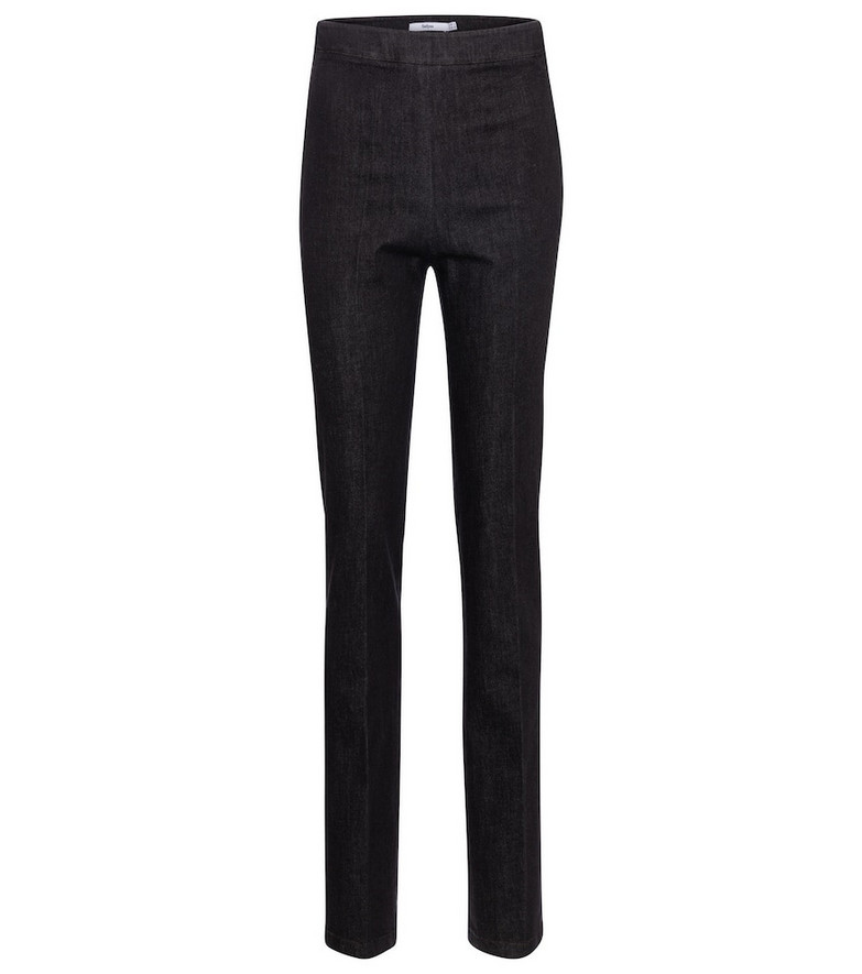 Safiyaa High-rise straight slim jeans in blue