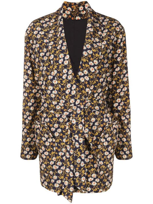 Blazé Milano tie-waist floral blazer