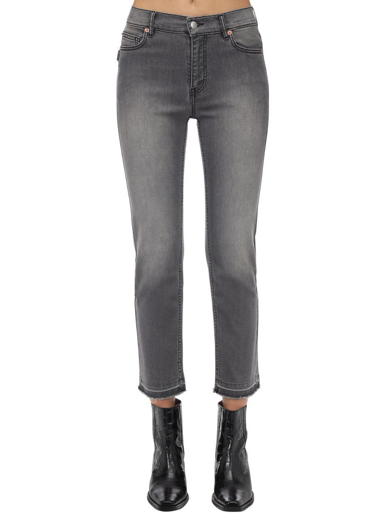 ZADIG & VOLTAIRE Cotton Denim Straight Jeans in grey