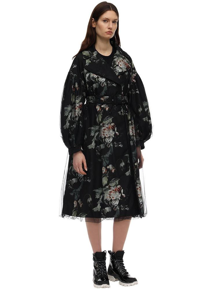 MONCLER GENIUS Lvr Exclusive Simone Rocha Down Coat in black / multi