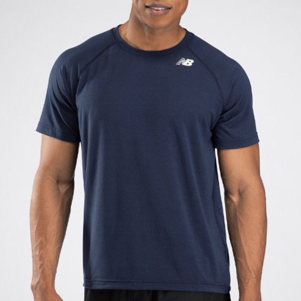 New Balance 3103 Men's Short Sleeve Tech Shirt - Navy (TMMT3103TNV)